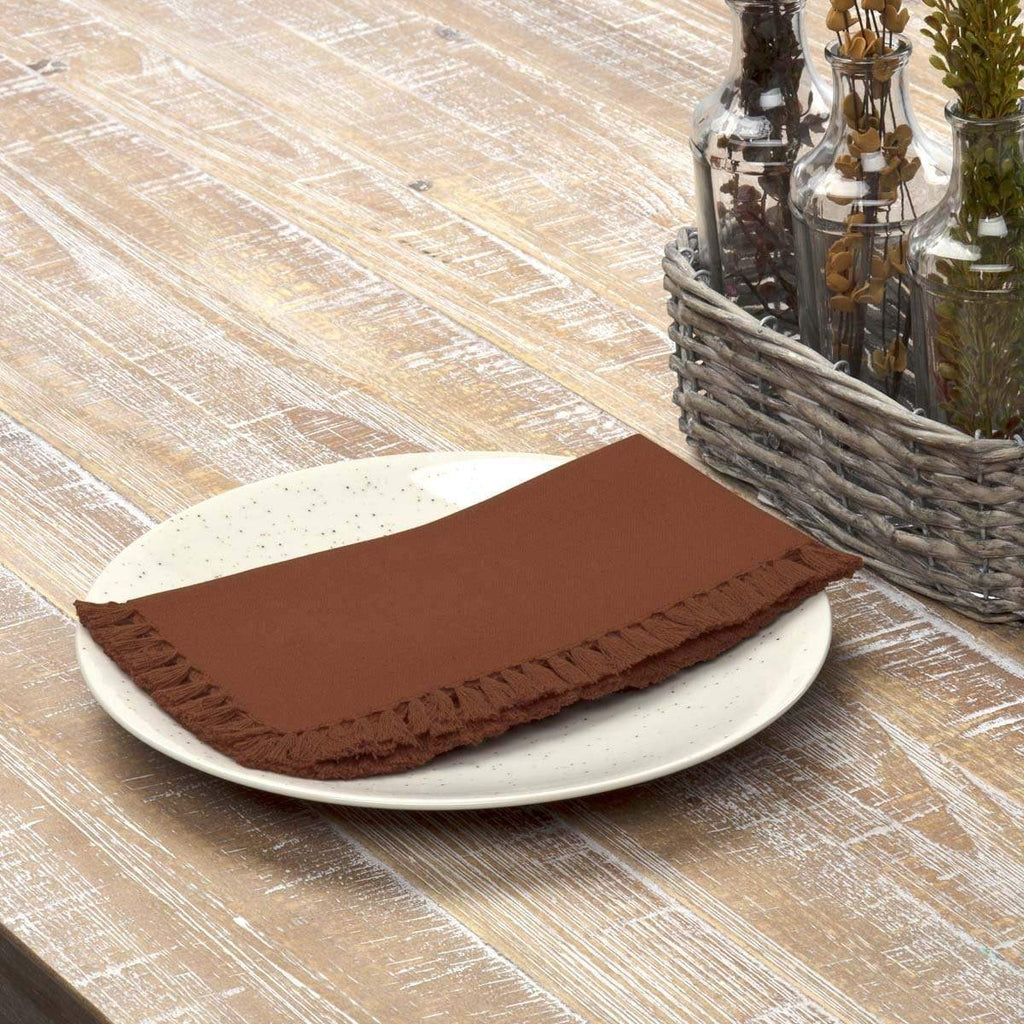 April & Olive Napkin Cassidy Rust Napkin Set of 6 18x18