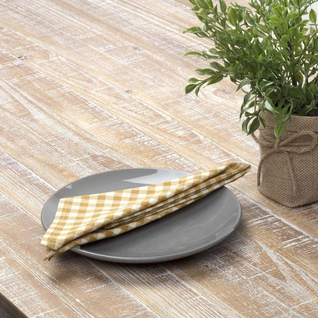 April & Olive Napkin Katie Gold Napkin Set of 6 18x18