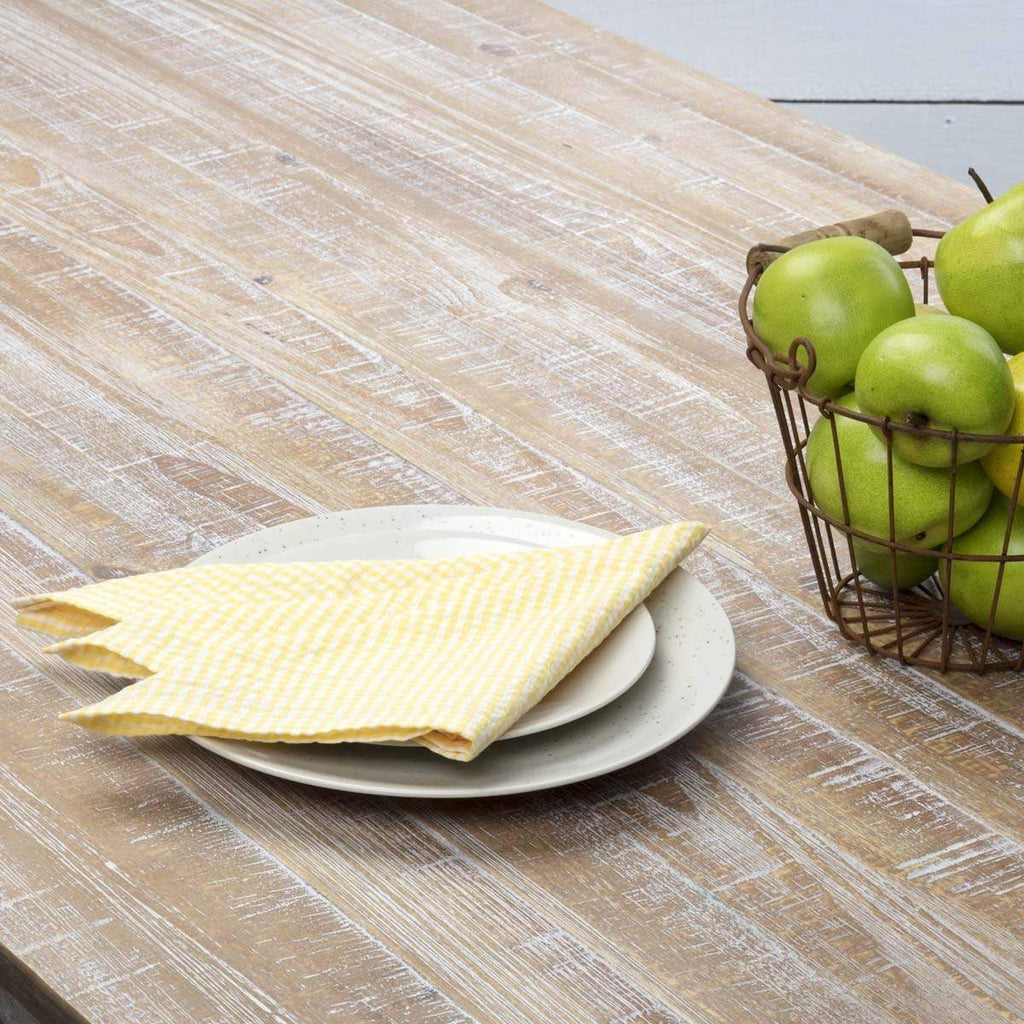 April & Olive Napkin Keeley Yellow Napkin Set of 6 18x18