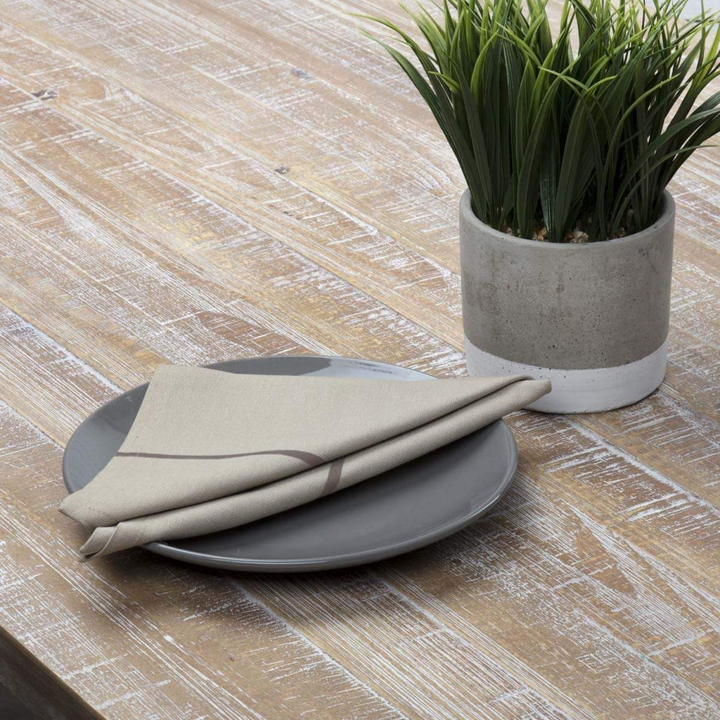 April & Olive Napkin Lauren Slate Napkin Set of 6 18x18
