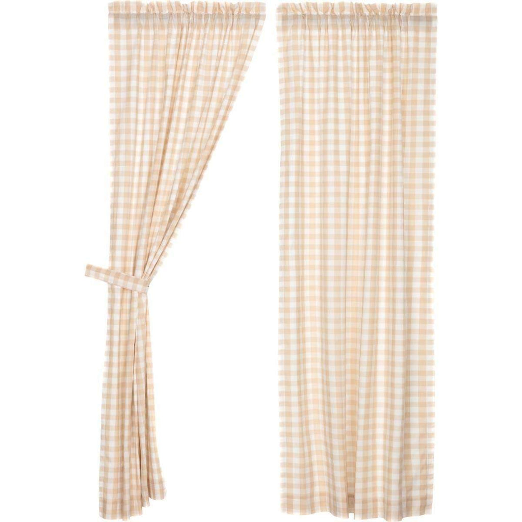 Annie Buffalo Tan Check Panel Set of 2 84x40