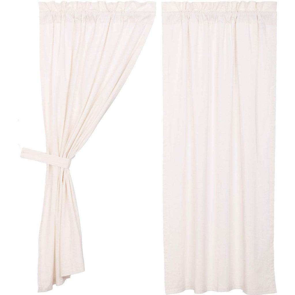 Simple Life Flax Antique White Short Panel Set of 2 63x36