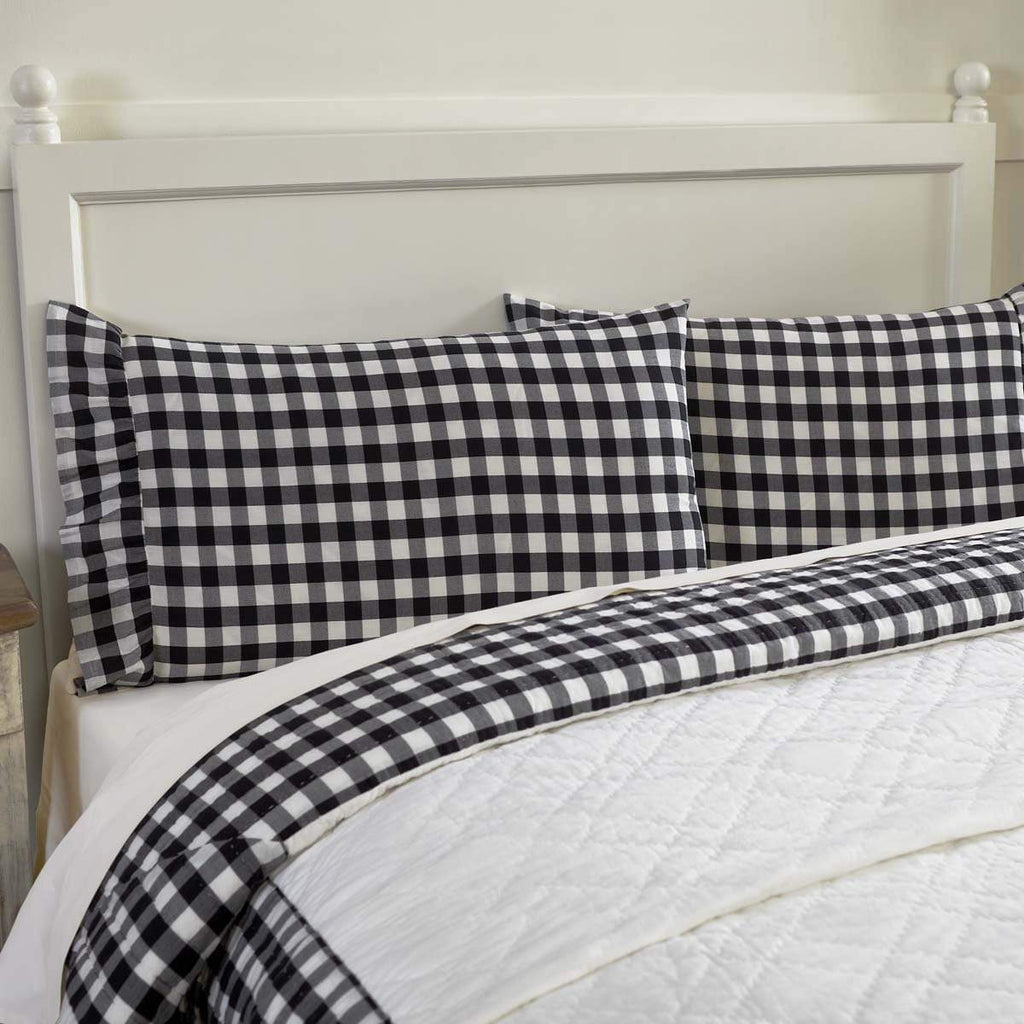 April & Olive Pillow Case Annie Buffalo Black Check Standard Pillow Case Set of 2 21x30