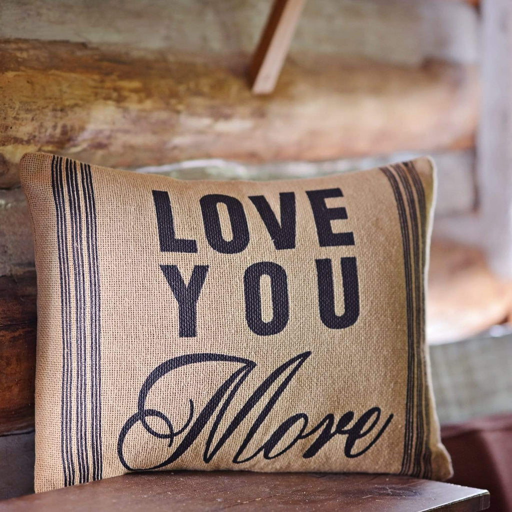 April & Olive Pillow Cover Love You More Pillow 14x18