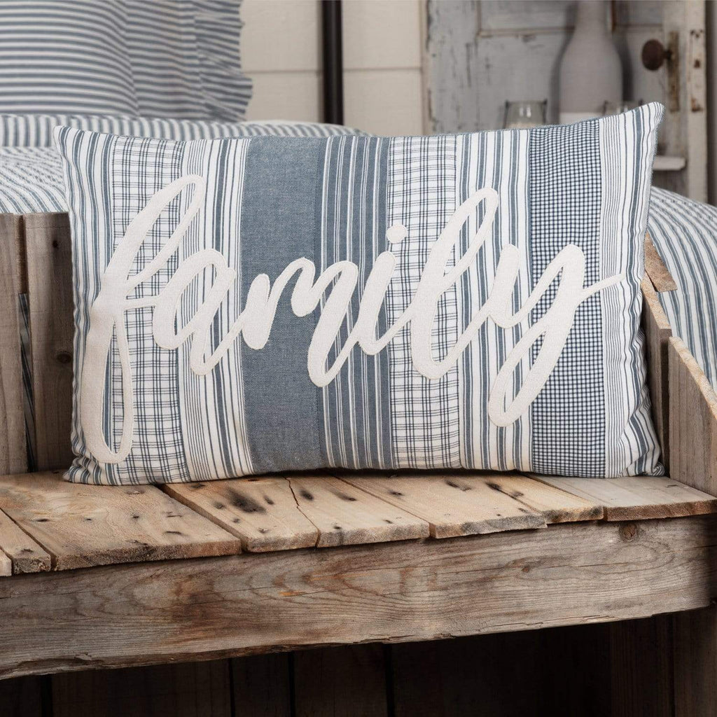 April & Olive Pillow Cover Sawyer Mill Blue Family Pillow 14x22