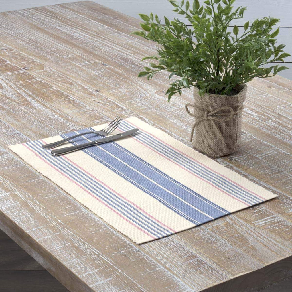 April & Olive Placemat Cadence Ribbed Placemat Set of 6 12x18