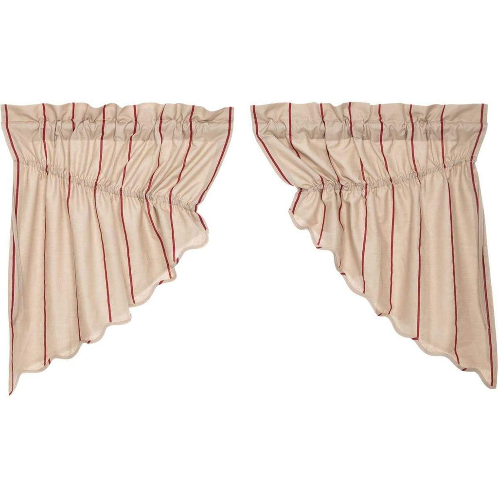 April & Olive Prairie Swag Charlotte Rouge Scalloped Prairie Swag Set of 2 36x36x18