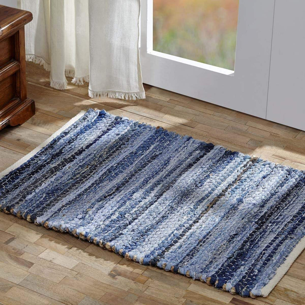 April & Olive Rug Denim & Hemp Chindi/Rag Rug Rect 48x72