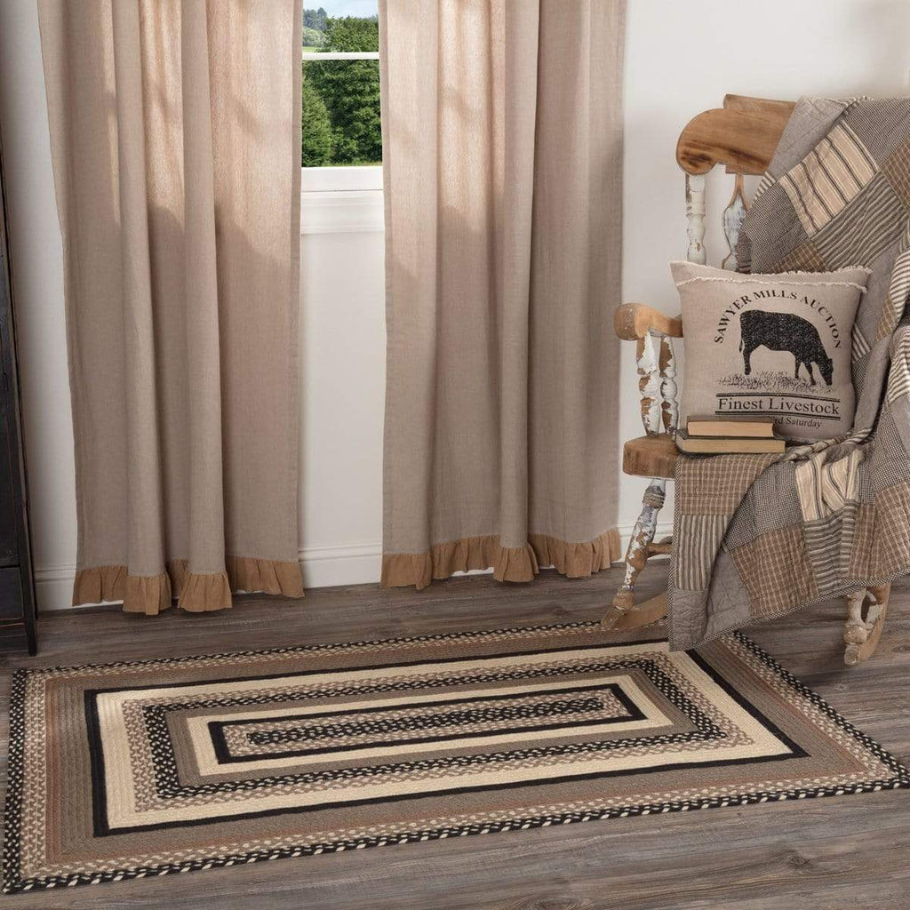 April & Olive Rug Sawyer Mill Charcoal Jute Rug Rect 36x60