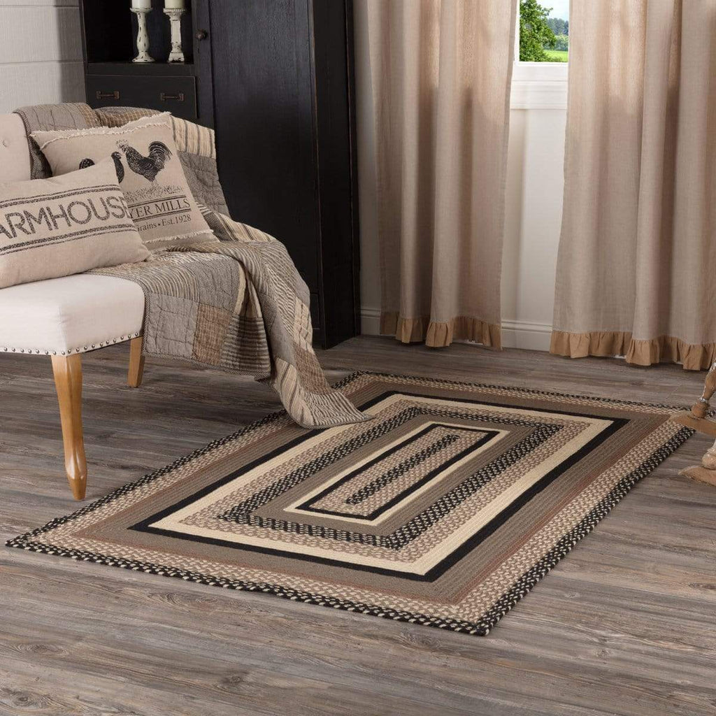 April & Olive Rug Sawyer Mill Charcoal Jute Rug Rect 48x72