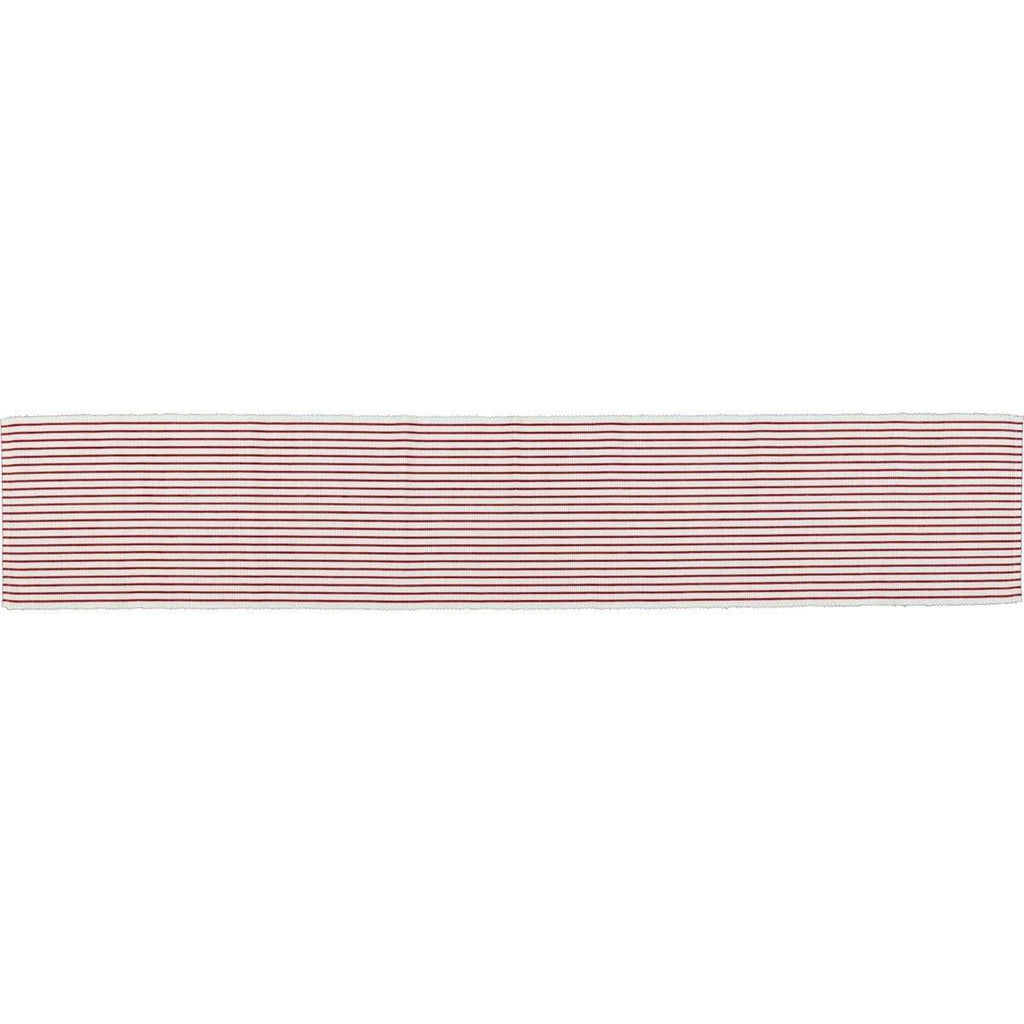 April & Olive Runner Audrey Red Ribbed Runner 13x72