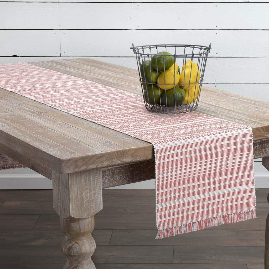 April & Olive Runner Madeline Red Ribbed Runner 13x90
