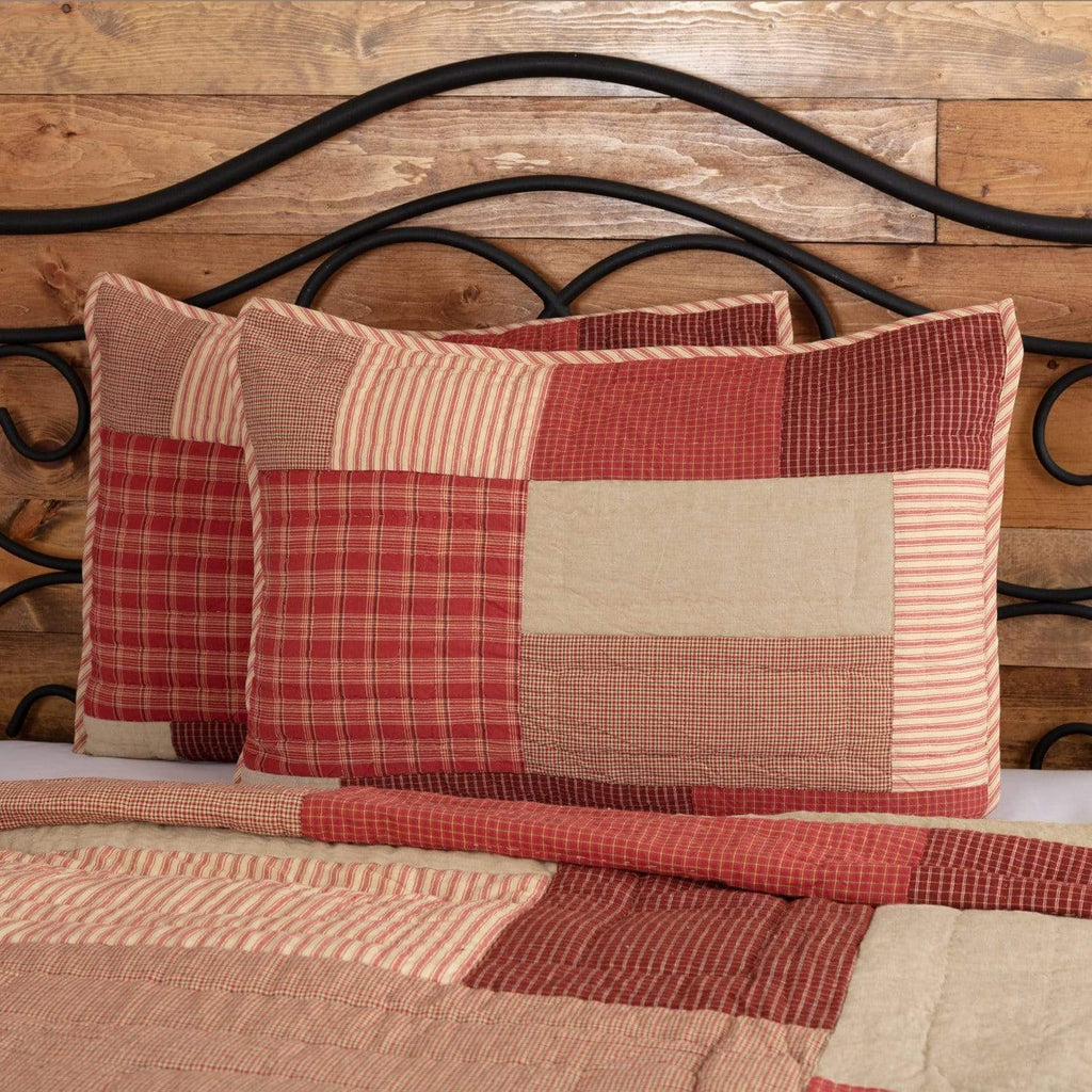 April & Olive Sham Rory Schoolhouse Red Standard Sham 21x27