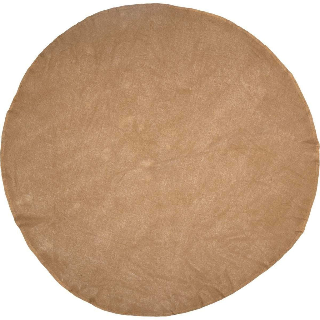 April & Olive Table Cloth Burlap Natural Table Cloth 70 Round