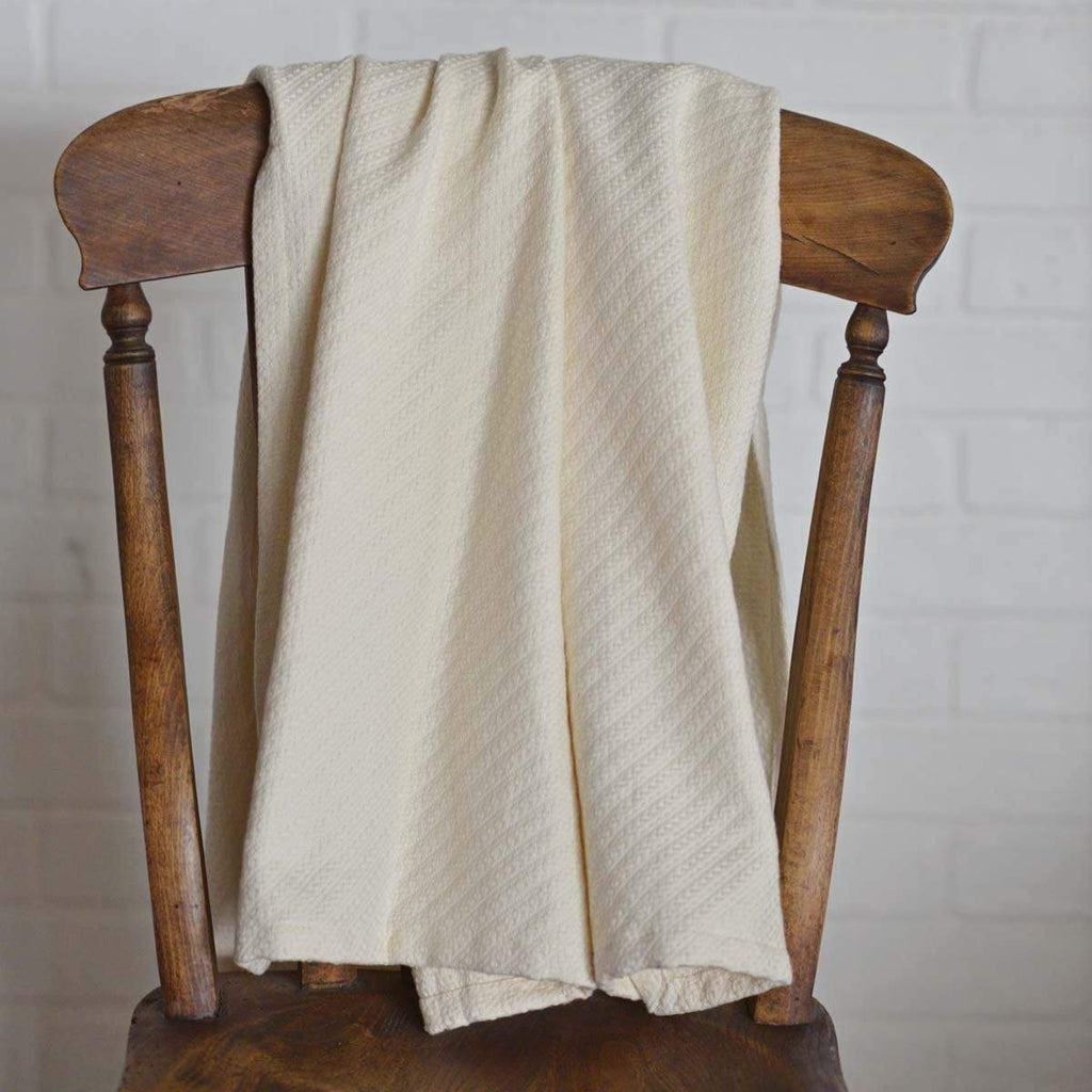 April & Olive Throw Creme Baby Blanket 48x36