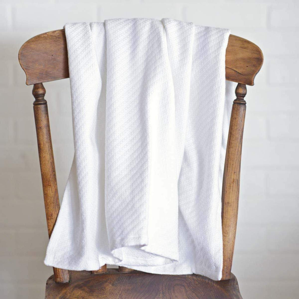 April & Olive Throw White Baby Blanket 48x36
