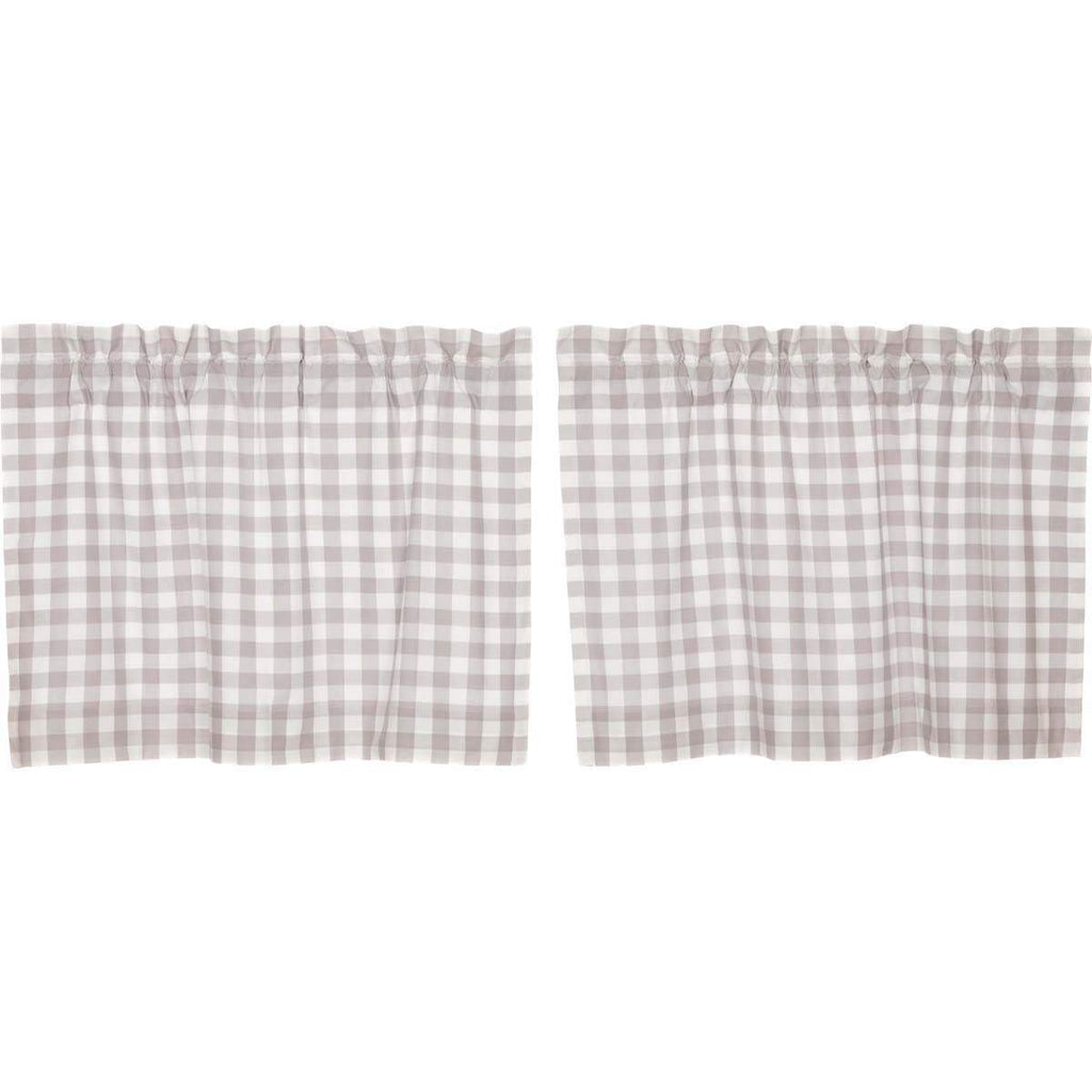 April & Olive Tier Annie Buffalo Grey Check Tier Set of 2 L24xW36