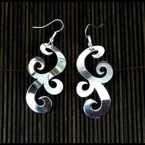 Artisana Artisana Large Silverplated Scrollwork Earrings - Artisana