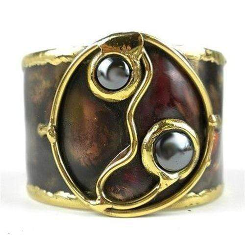 Brass Images (C) Brass Images Morpho Hematite and Brass Cuff - Brass Images (C)