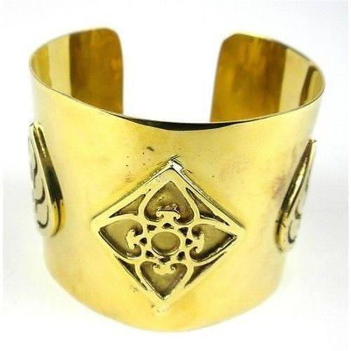 Craftworks Cambodia Cambodian Collection Bomb Casing with Leaf Design Cuff - Craftworks Cambodia