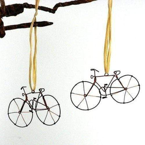 Creative Alternatives Holiday Set of Two Handmade Wire Bicycle Ornaments - Creative Alternatives