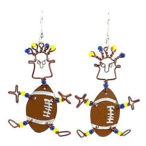 Creative Alternatives The Takataka Collection Dancing Girl American Football Earrings - Creative Alternatives