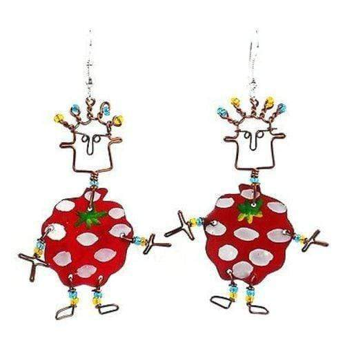 Creative Alternatives The Takataka Collection Dancing Girl Berry Earrings - Creative Alternatives