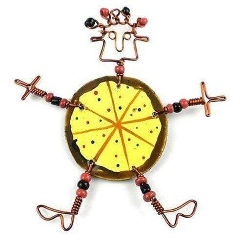 Creative Alternatives The Takataka Collection Dancing Girl Pizza Pin - Creative Alternatives
