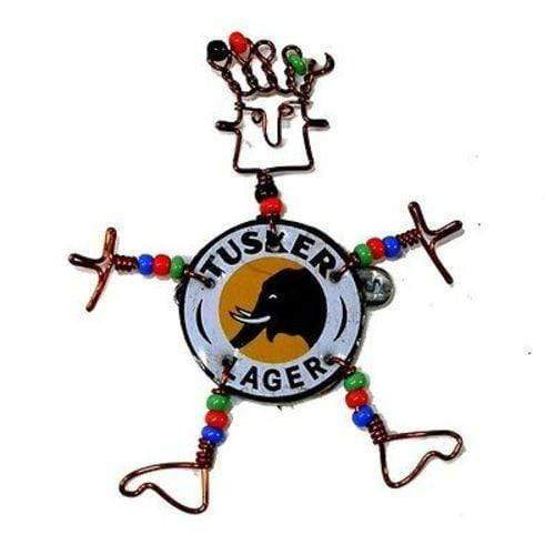 Creative Alternatives The Takataka Collection Dancing Girl Tusker Bottle Cap Pin with Beads - Creative Alternatives