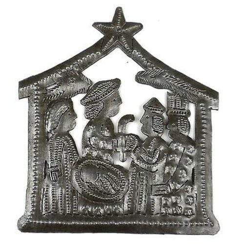 Croix des Bouquets (H) Holiday Small Recycled Steel Drum Nativity Scene - Croix des Bouquets (H)