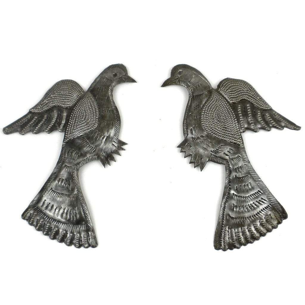 Croix des Bouquets Metal Wall Art Pair of Birds Metal Wall Art - Croix des Bouquets