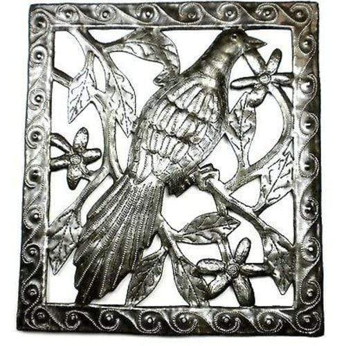 Croix des Bouquets Metal Wall Art Single Bird Metal Wall Art - 11 by 12 Inches - Croix des Bouquets