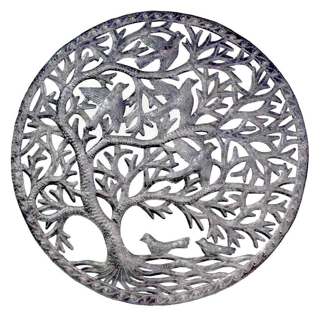 Croix des Bouquets Metal Wall Art Stormy Tree of Life Wall Art - Croix des Bouquets