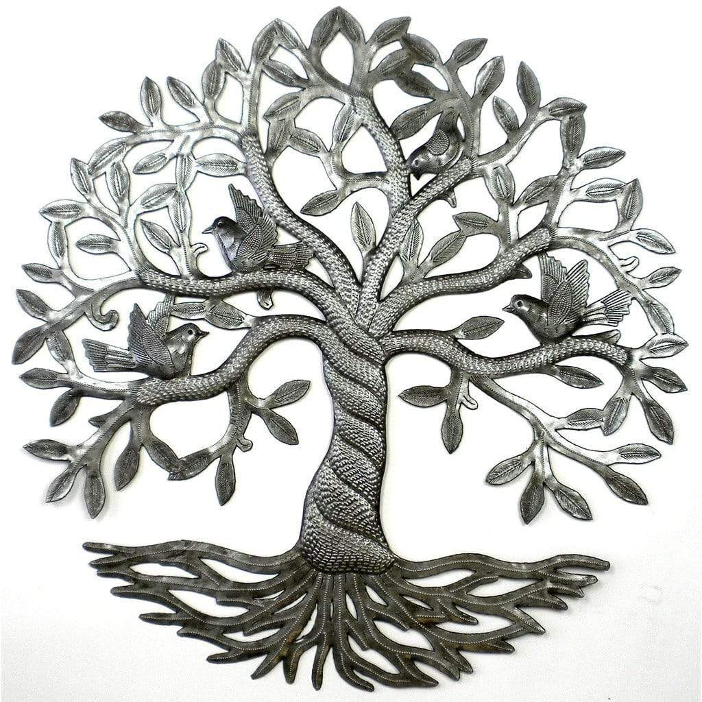 Croix des Bouquets Metal Wall Art Twisted Tree of Life Metal Wall Art - Croix des Bouquets