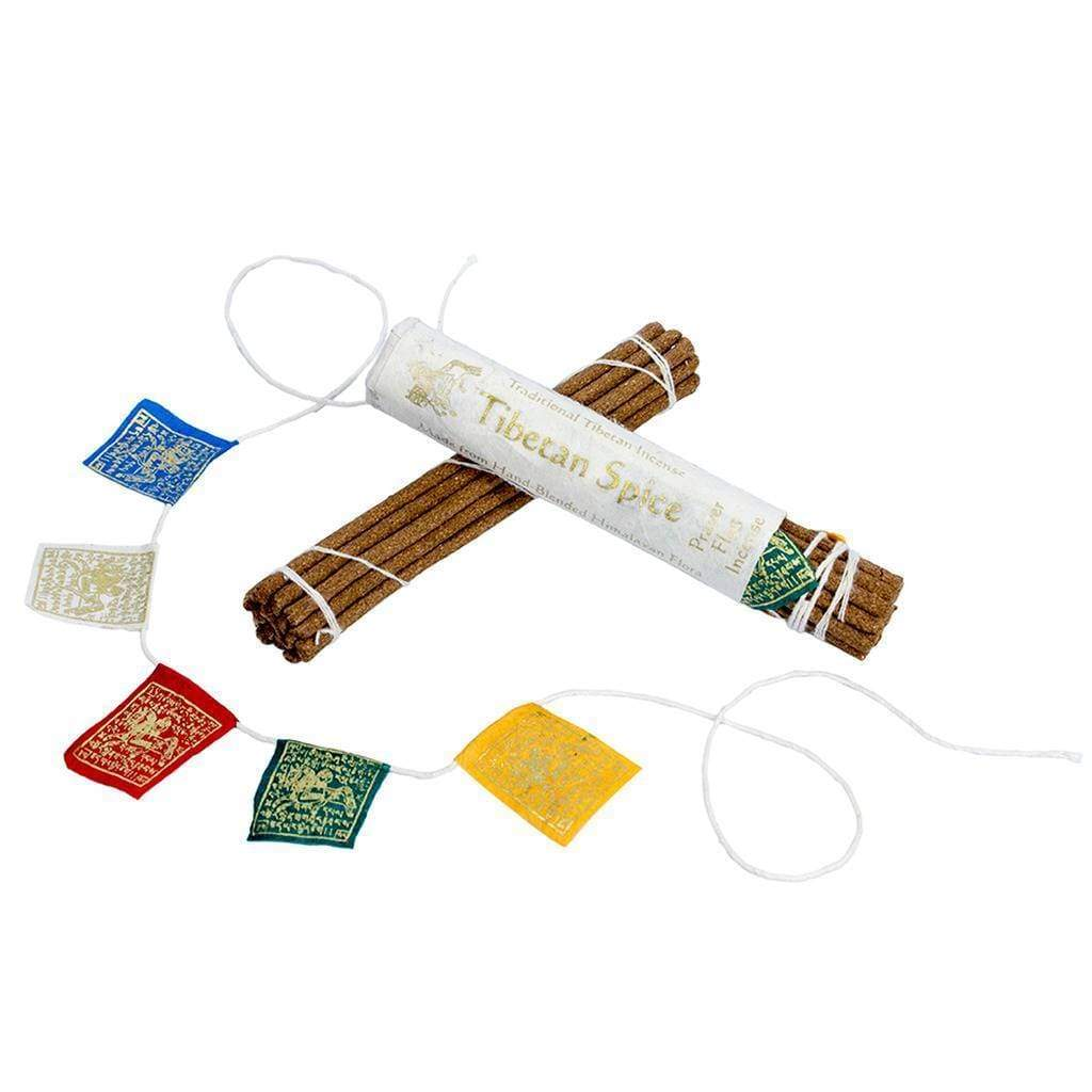 DZI (Meditation) Incense Prayer Flag and Incense Roll - Tibetan Spice - DZI (Meditation)