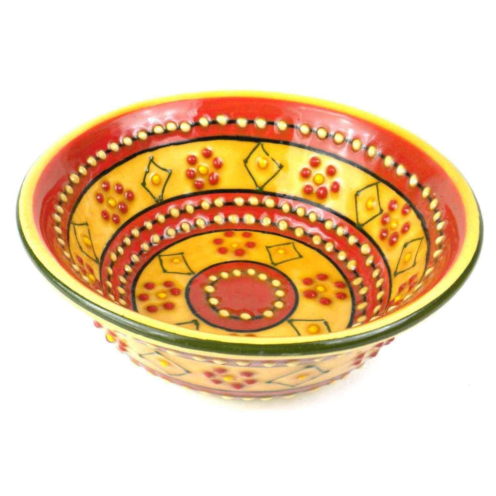 Encantada Encantada Hand-painted Round Bowl in Red - Encantada