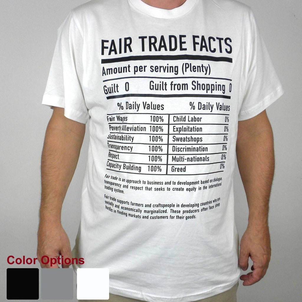 Global Crafts Tee Shirts Medium / White Unisex Fair Trade Tee Shirt Fair Trade Facts - Freeset