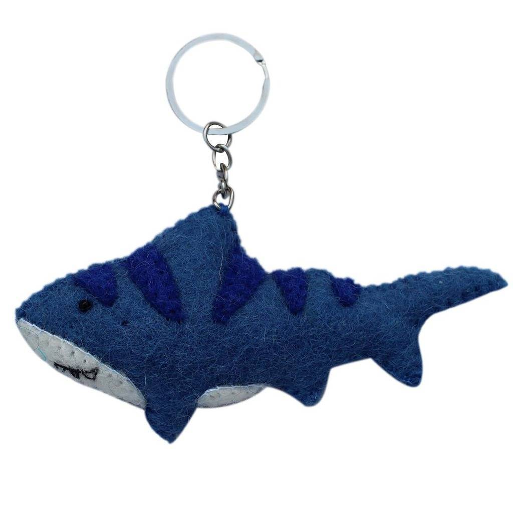 Global Groove (A) Keychain Felt Shark Key Chain - Global Groove (A)
