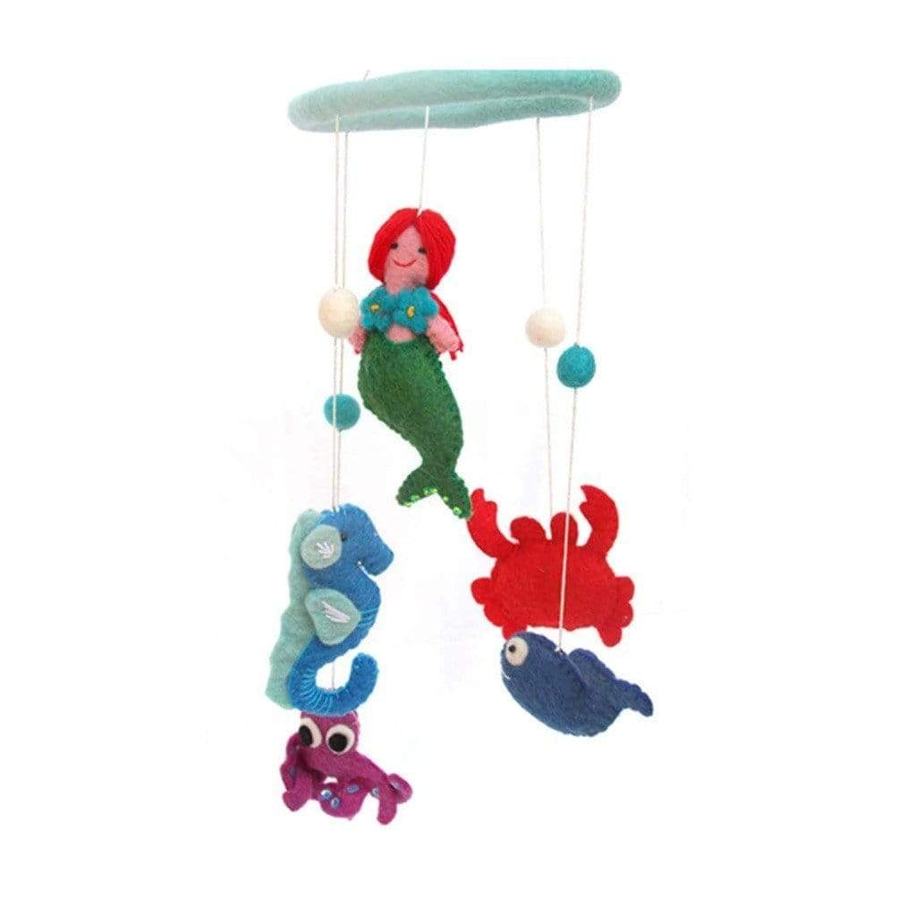Global Groove Games Felt Mermaid Mobile -