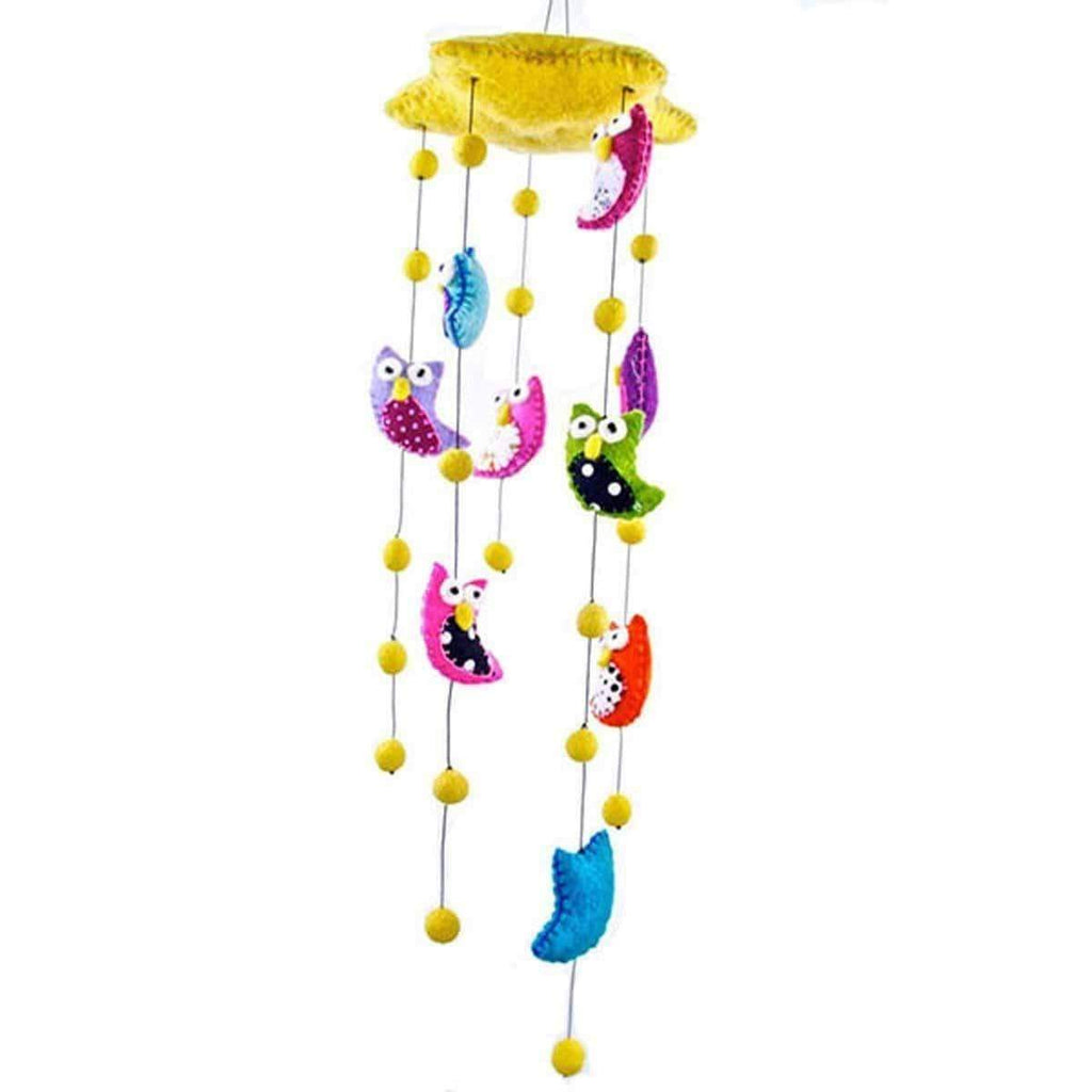 Global Groove Games Felt Owl Mobile - Bright Colors - Global Groove