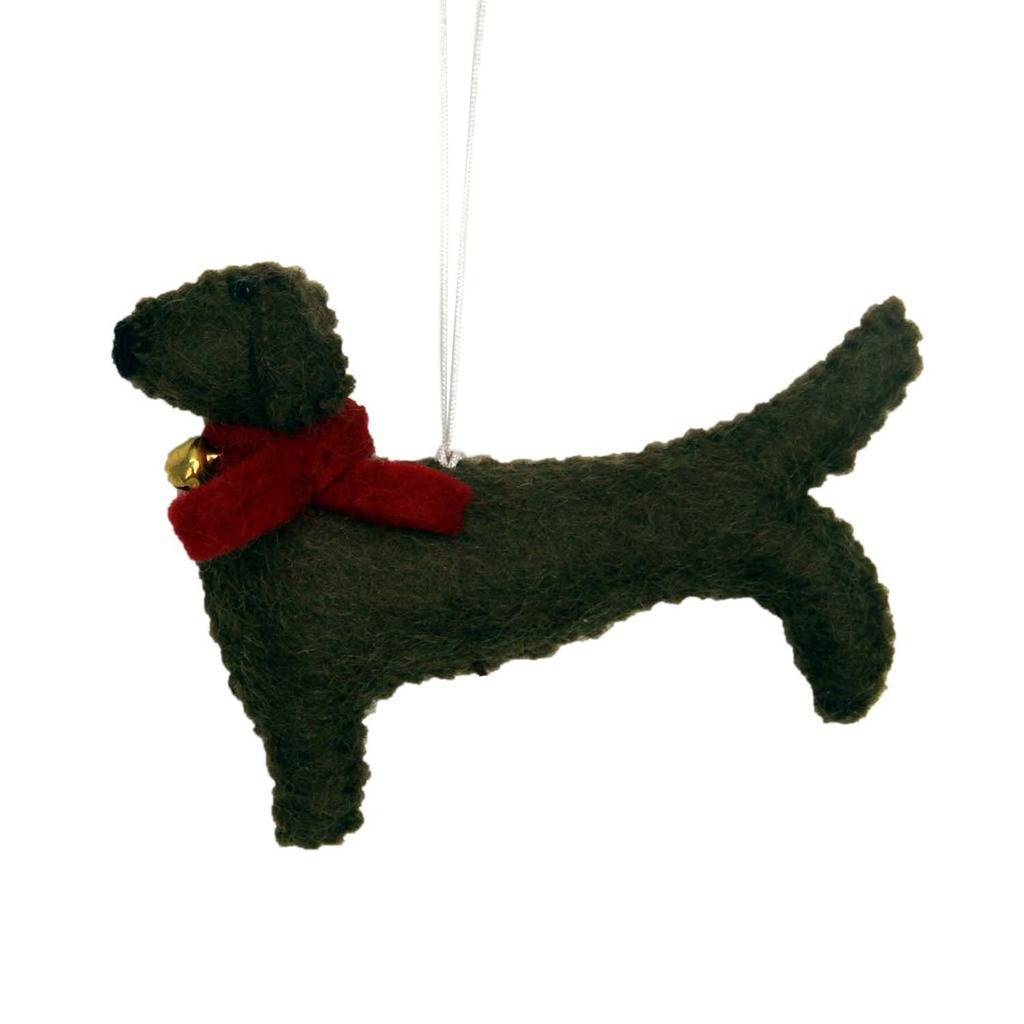 Global Groove (H) Holiday Dachshund Felt Ornament - Global Groove (H)