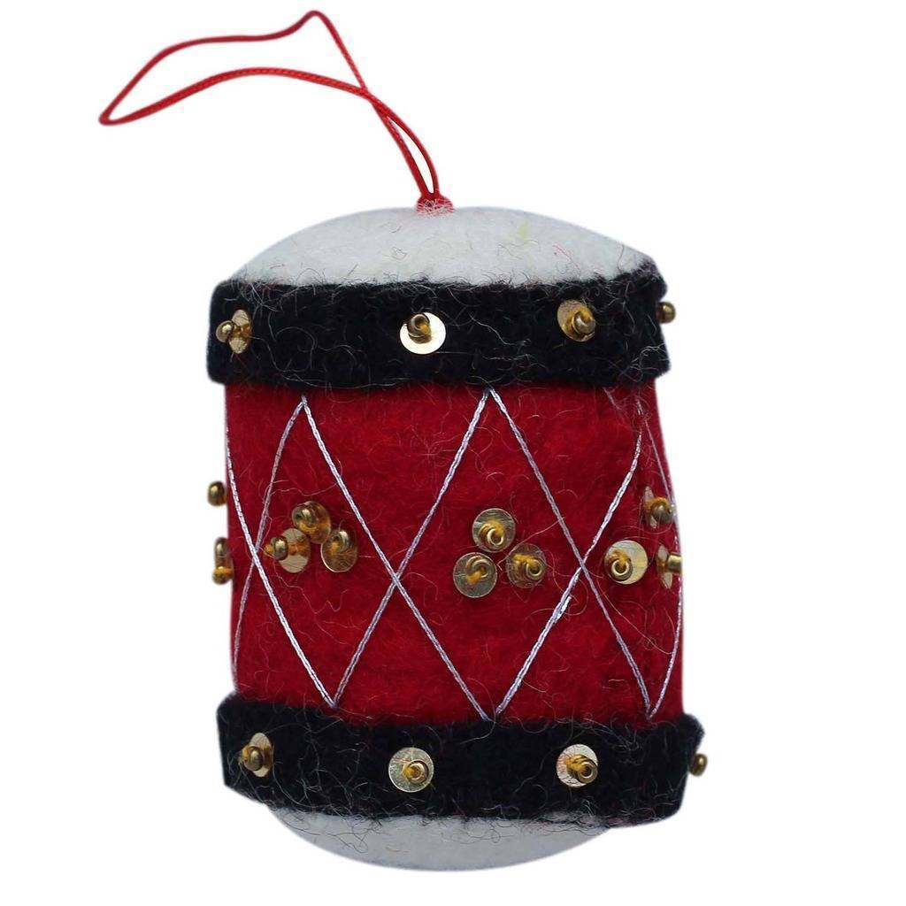 Global Groove (H) Holiday Drum Felt Ornament - Global Groove (H)