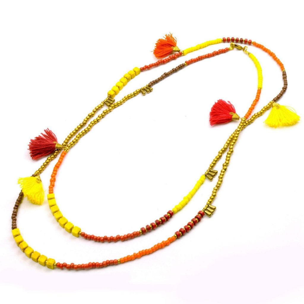 Global Groove (J) Global Groove Jewelry Kerala 3-in-1 Necklace Fire - Global Groove (J)