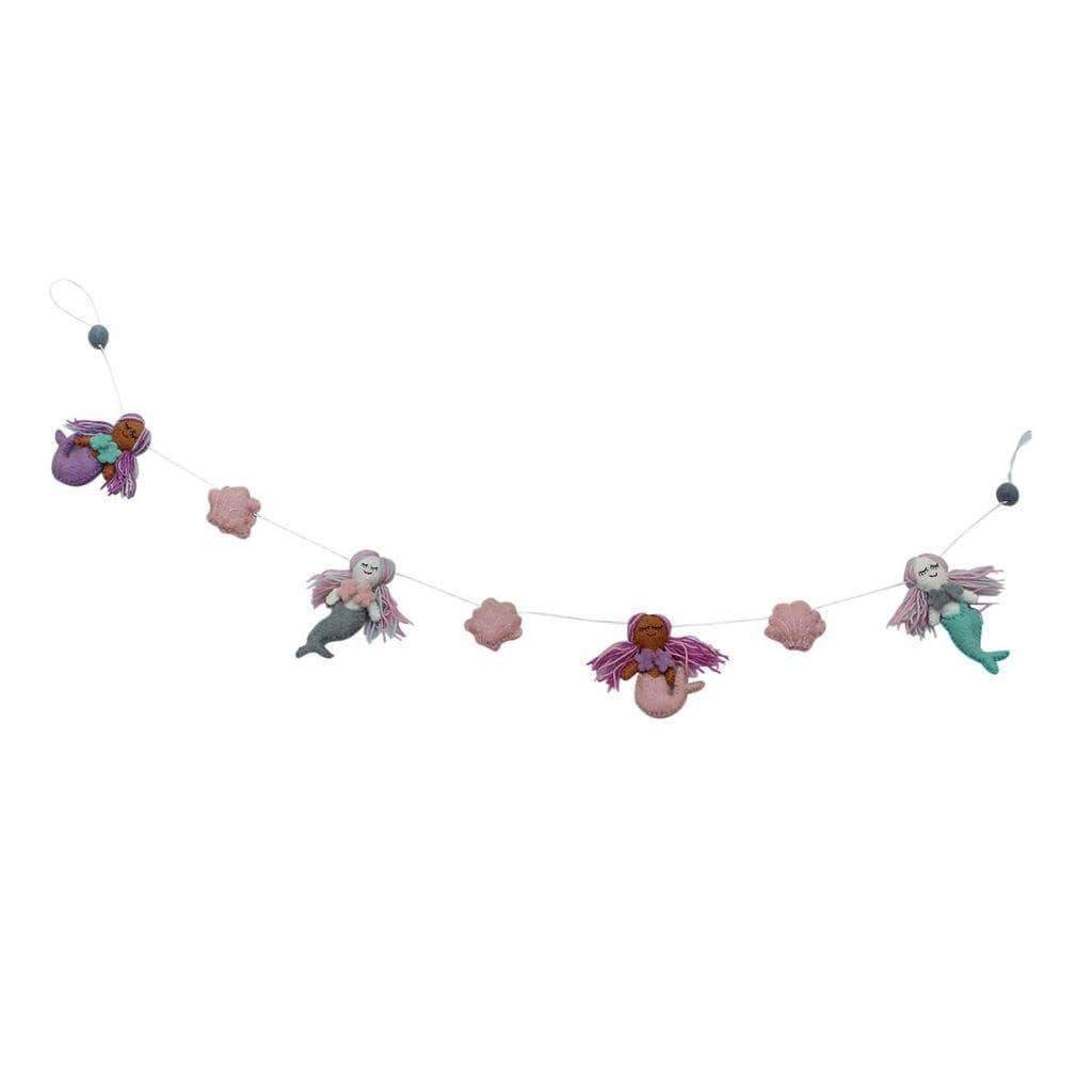 Global Groove Kids Accessories Mermaid Felt Garland - Global Groove