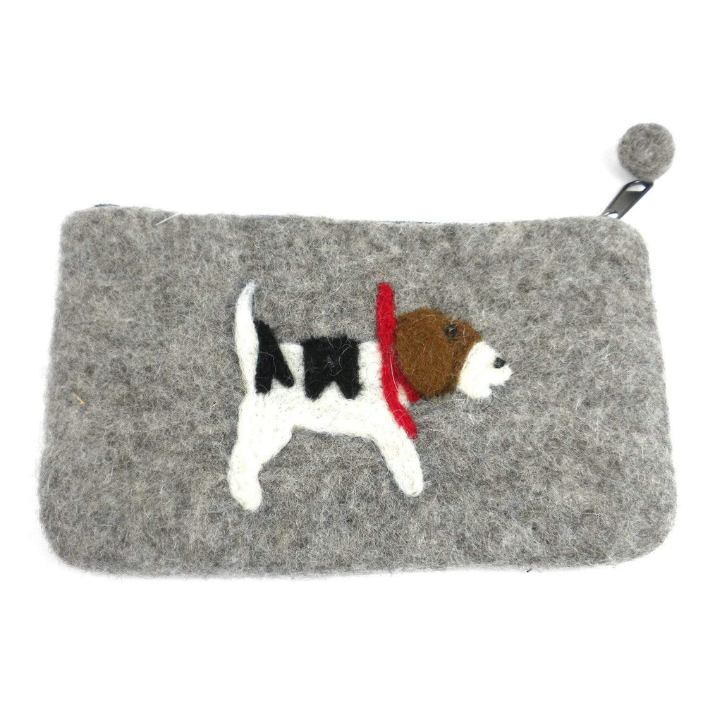 Global Groove (P) Purses And Pouches Jack Russell Felt Clutch - Global Groove (P)