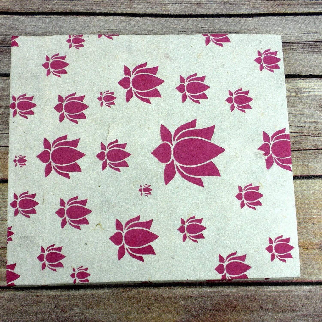 Global Groove (S) Journals Lotus Journal, Large Pink - Global Groove (S)