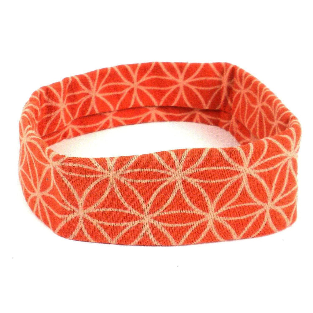 Global Groove (W) Apparel (W) Flower of Life Headband - Orange - Global Groove (W)