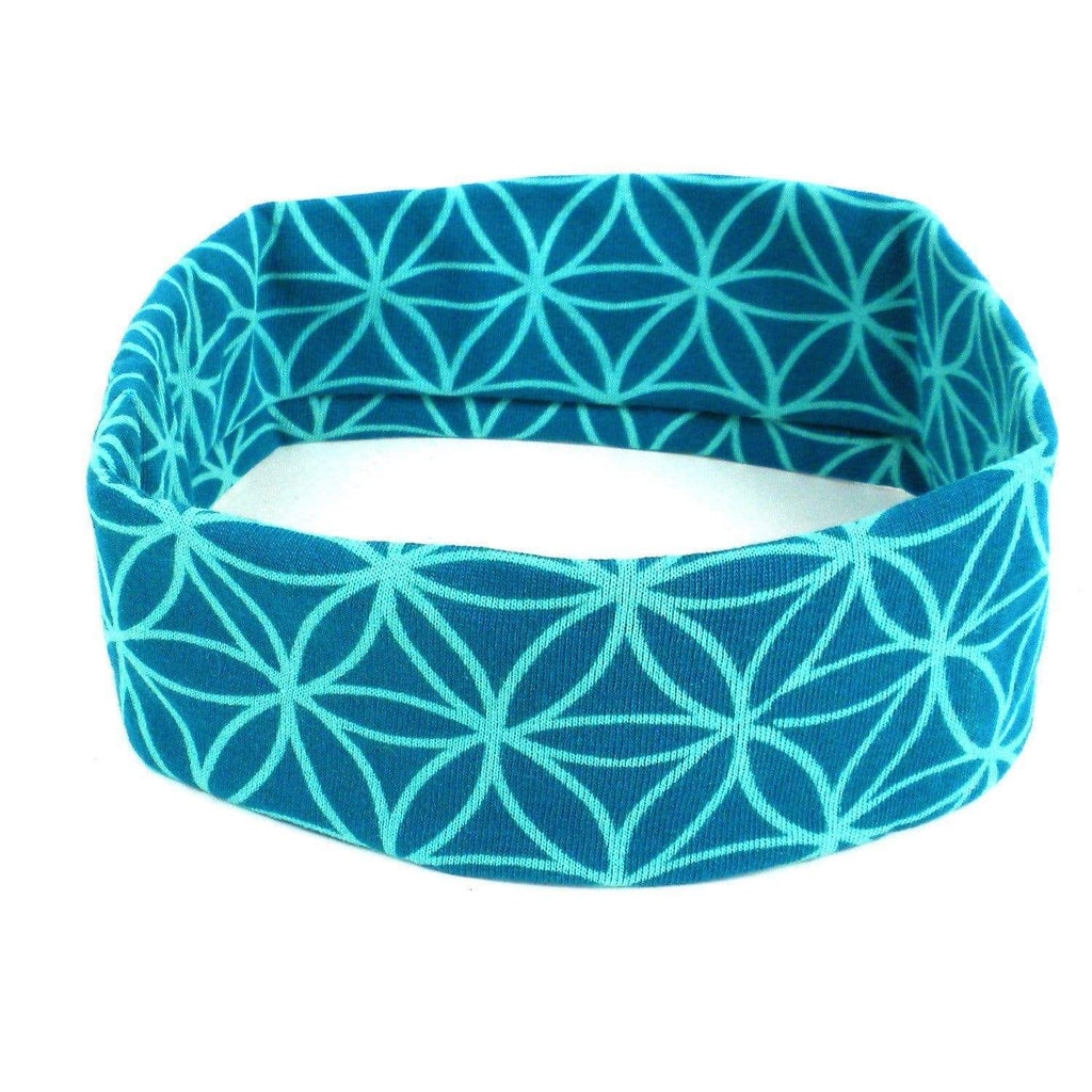 Global Groove (W) Apparel (W) Flower of Life Headband - Teal - Global Groove (W)