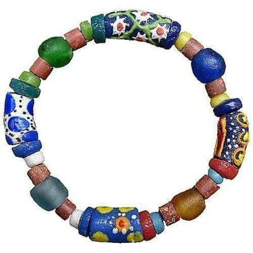 Global Mamas Ghanaian Collection Recycled Glass Bead Sister Bracelet - Global Mamas