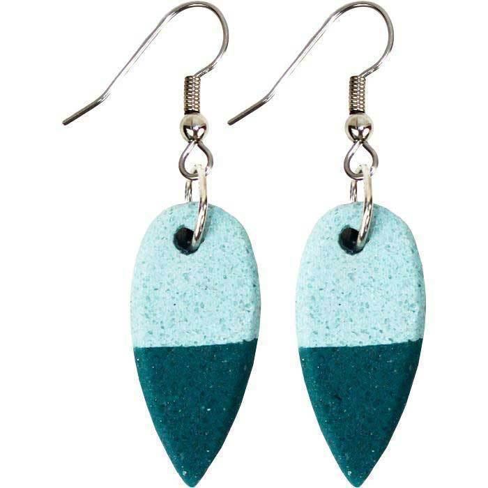Global Mamas (Jewelry) Ghanaian Collection Sahel Earrings -Teal - Global Mamas (Jewelry)